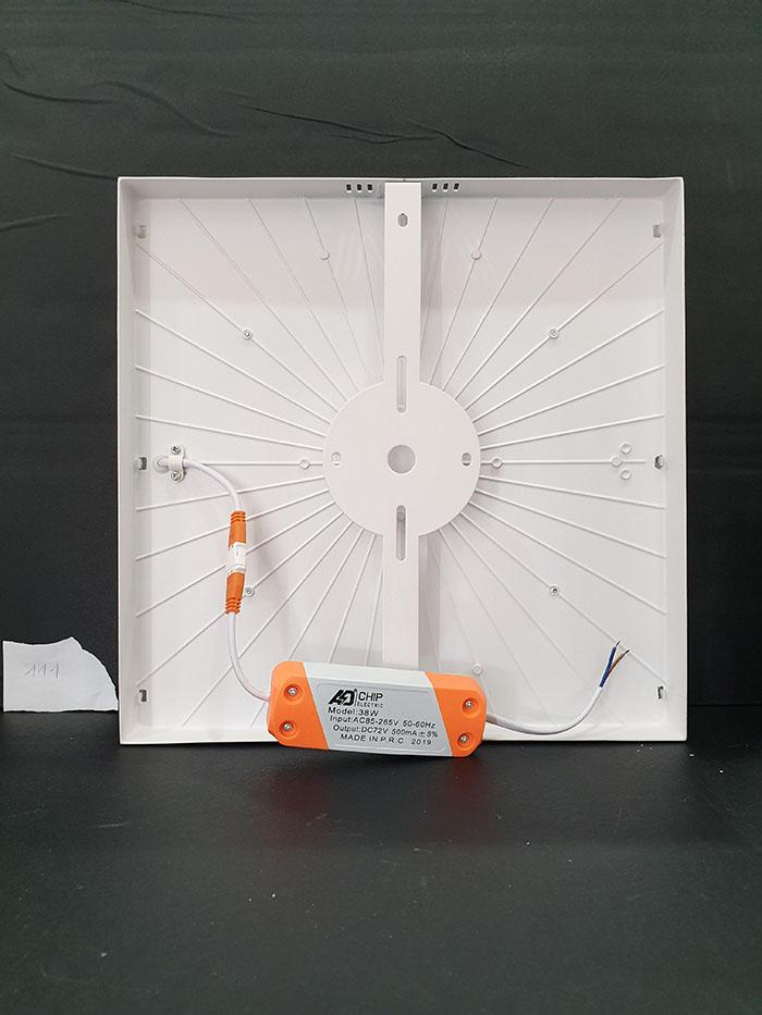 Đèn LED PANEL ốp trần viền trắng vuông( chóa nổi) 25W